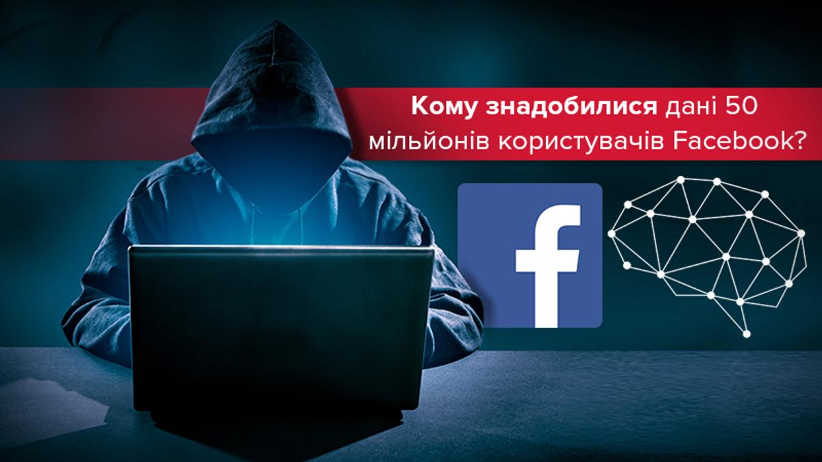 Скандал навколо витоку даних 50 мільйонів користувачів Facebook