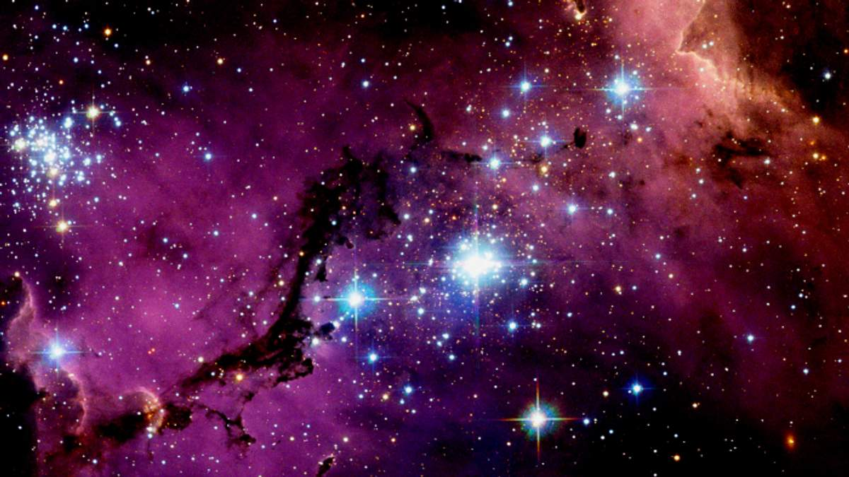 NASA показало столкновение двух галактик