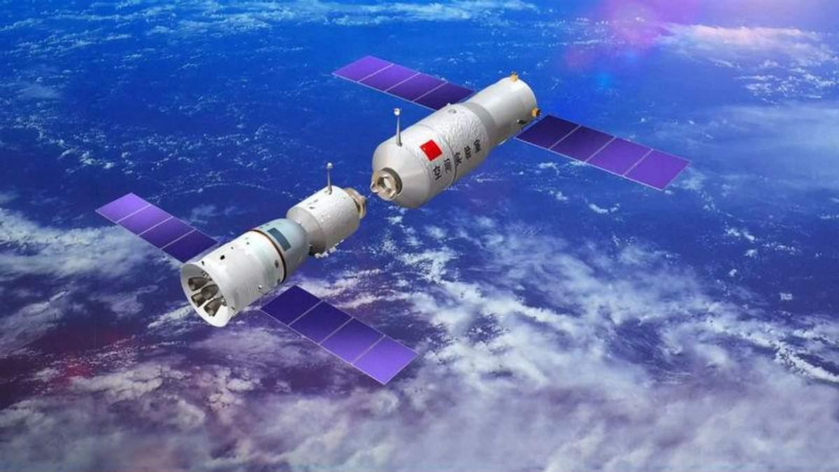 """Астрономи зробили знімок  китайської """"Тяньгун-1"""", яка падає на землю"""
