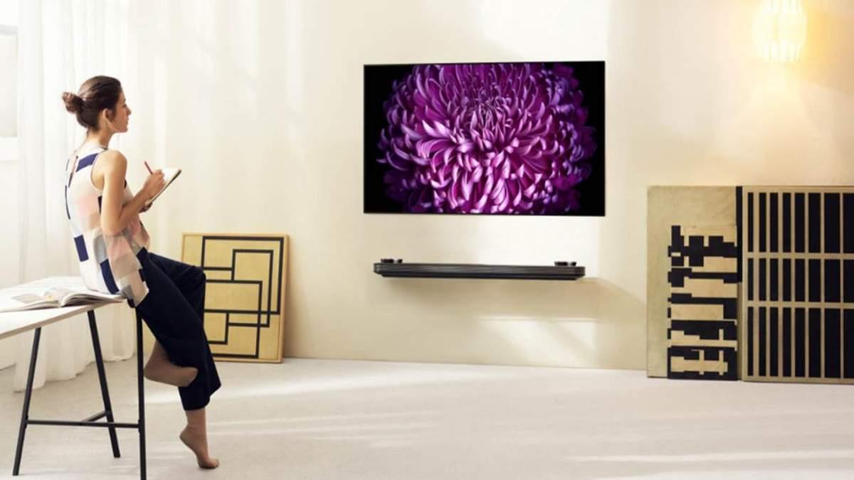 В Украине стартовали продажи новых OLED-телевизоров LG W7