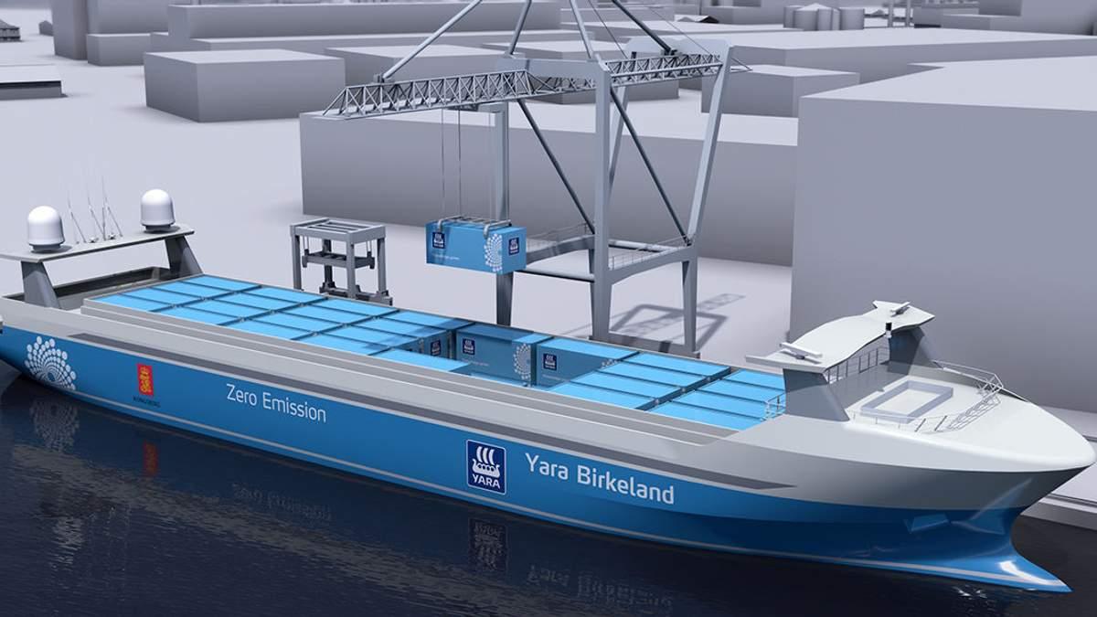 В Норвегії планують використовувати безпілотні вантажні судна