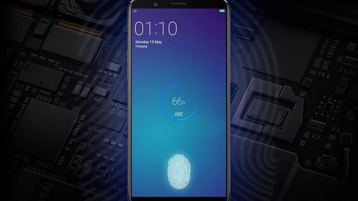 Компанія Oppo запатентувала сканер відбитка пальців вбудований під дисплеєм