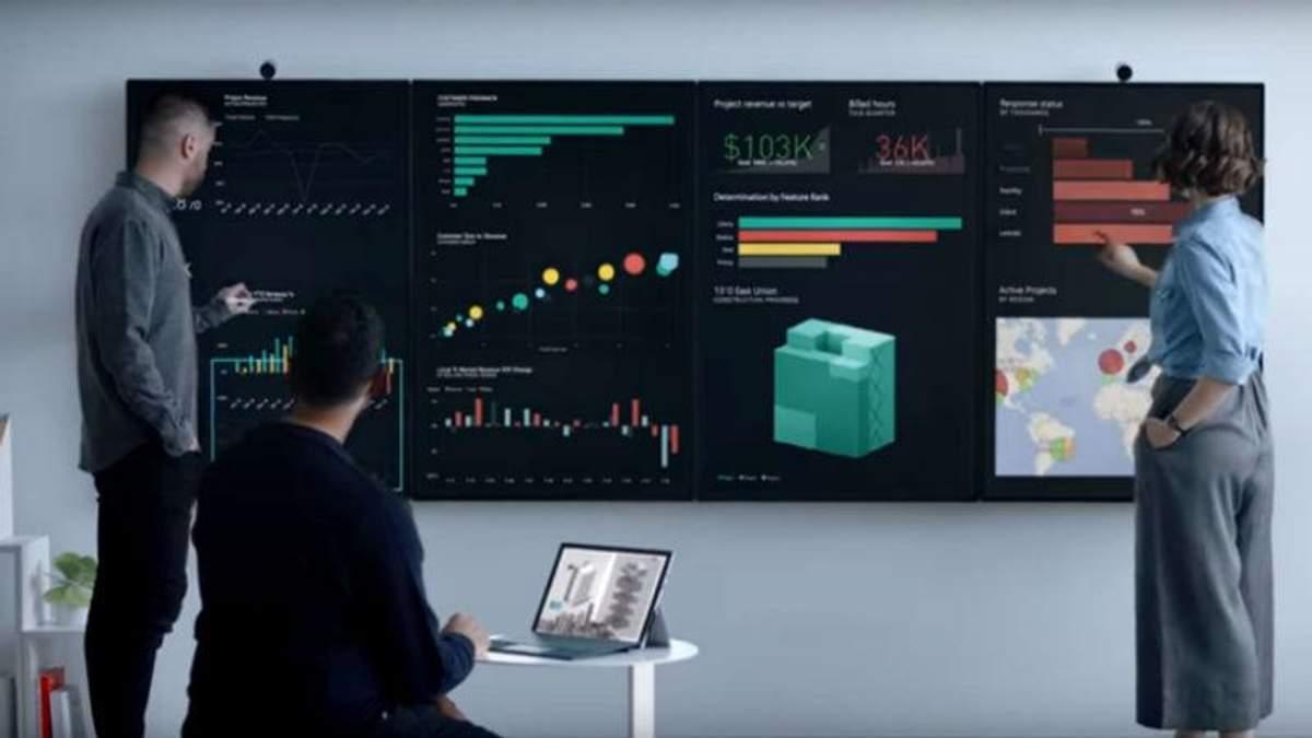 Выглядит эффектно: Microsoft показал 50,5-дюймовый экран