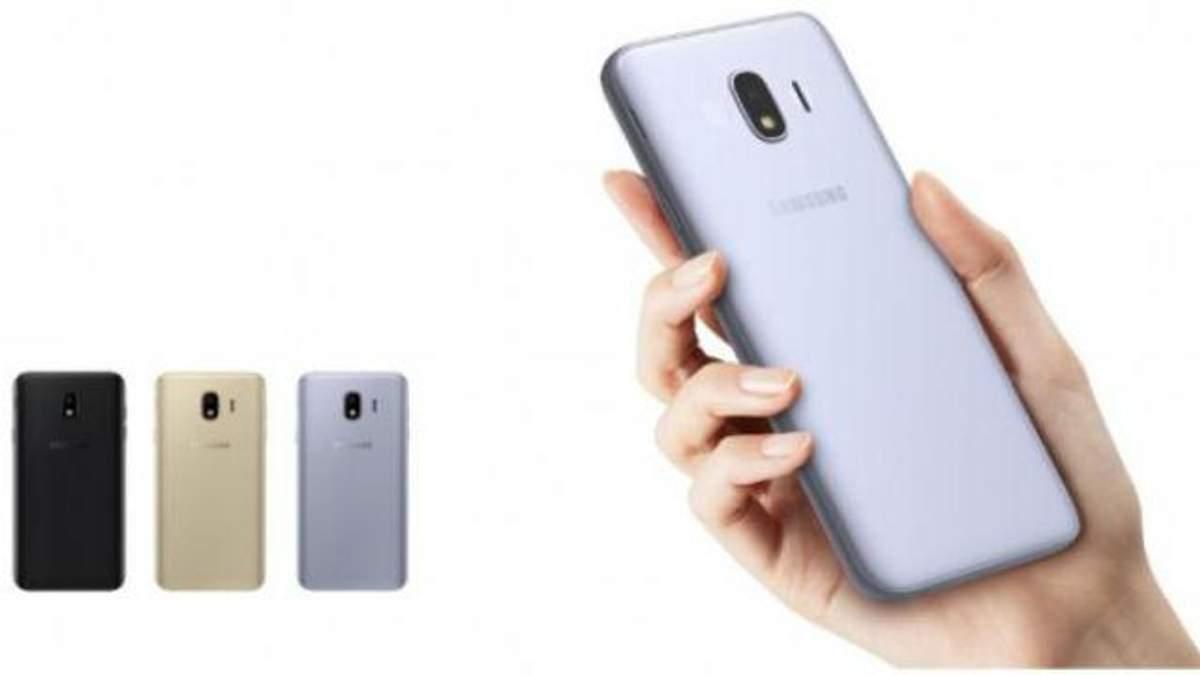 Samsung представила бюджетний смартфон Galaxy J4