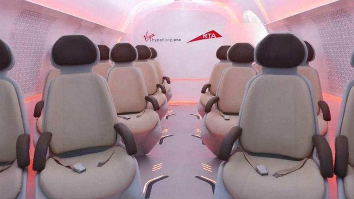 Який вигляд матиме капсула Hyperloop всередині: з'явились фото