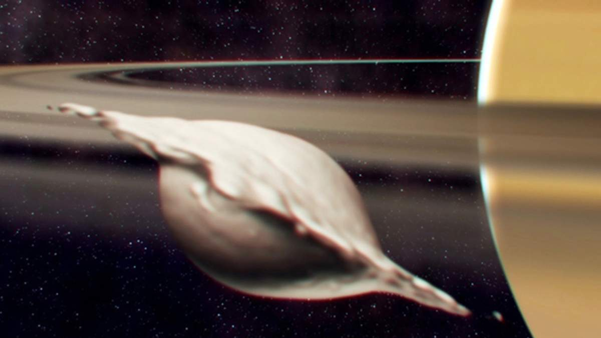 """Астрономы рассказали, как у Сатурна мог появиться """"спутник-пельмень"""""""