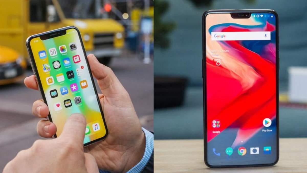 Порівняли iPhone X та OnePlus 6: який смартфон крутіший