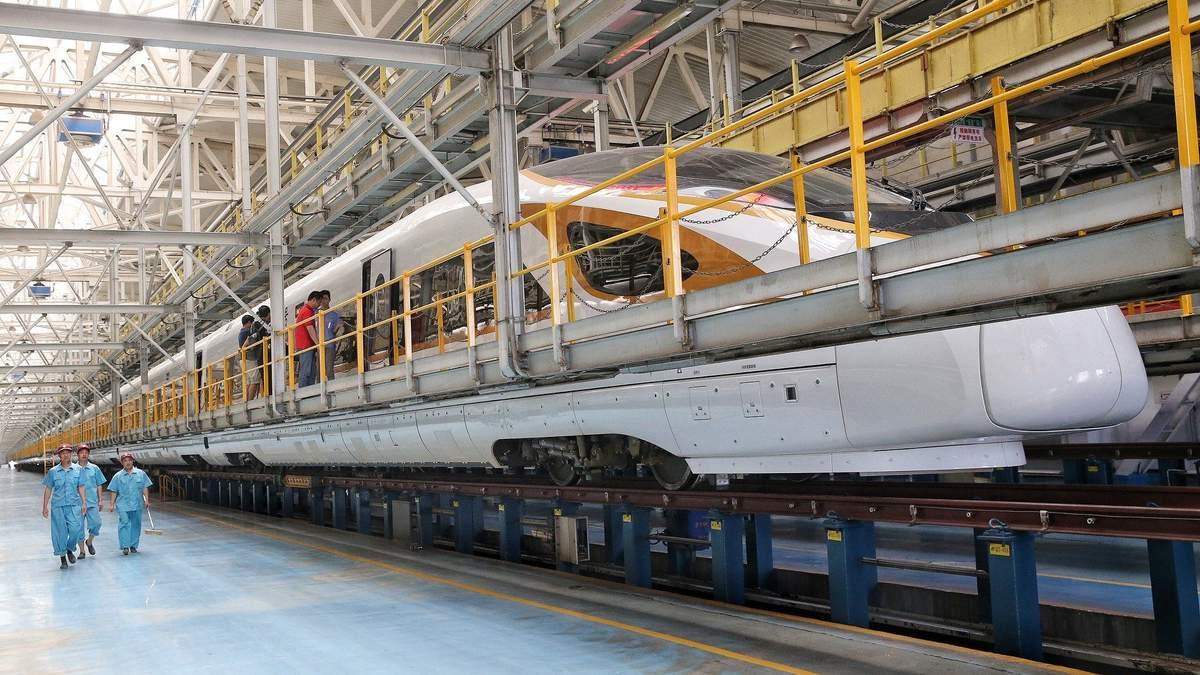 Самый длинный высокоскоростной поезд в мире Fuxing