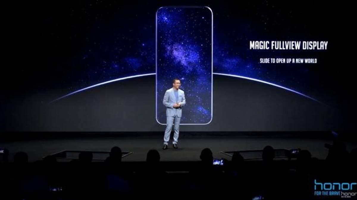 Безрамкочный смартфон Honor Magic 2