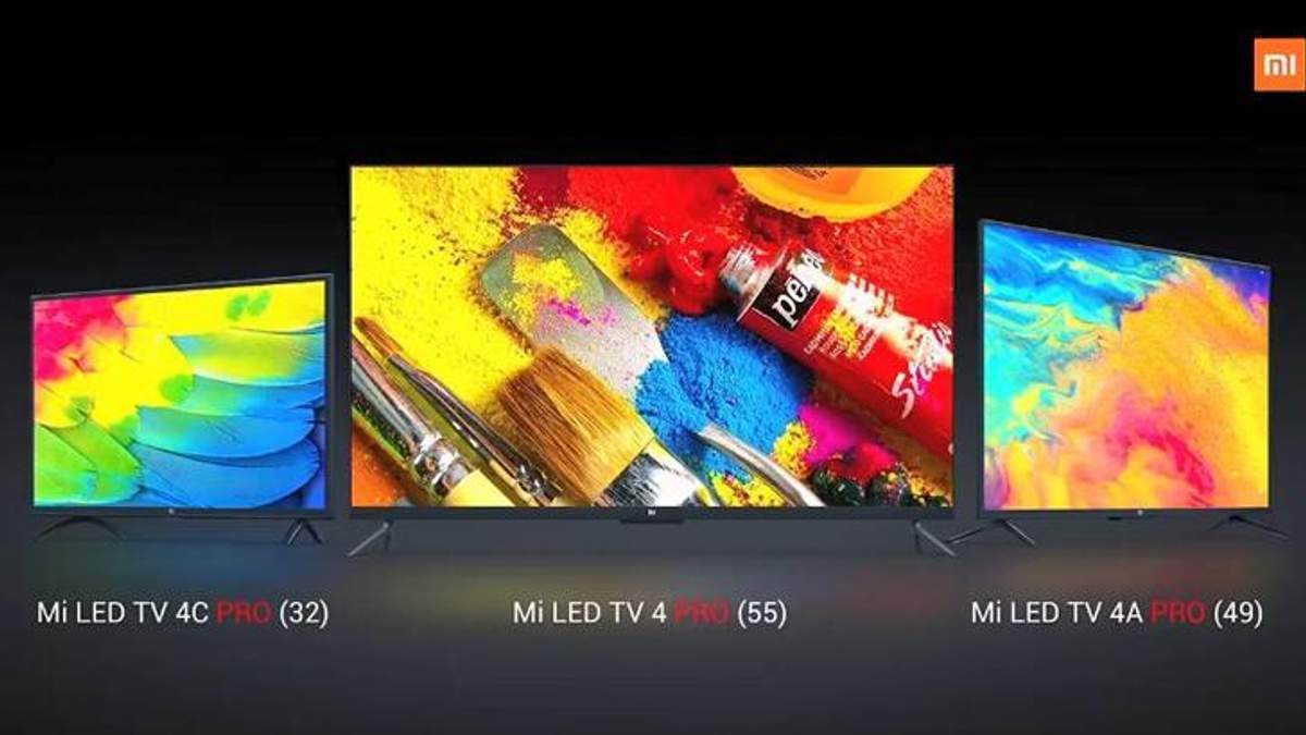 Xiaomi представила 3 нових смарт-телевізори: