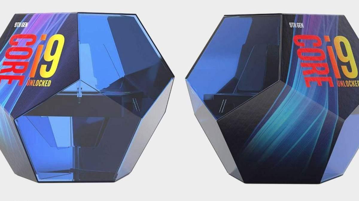 Intel придумала цікаве рішення для дизайну коробки топового процесора Core i9-9900K