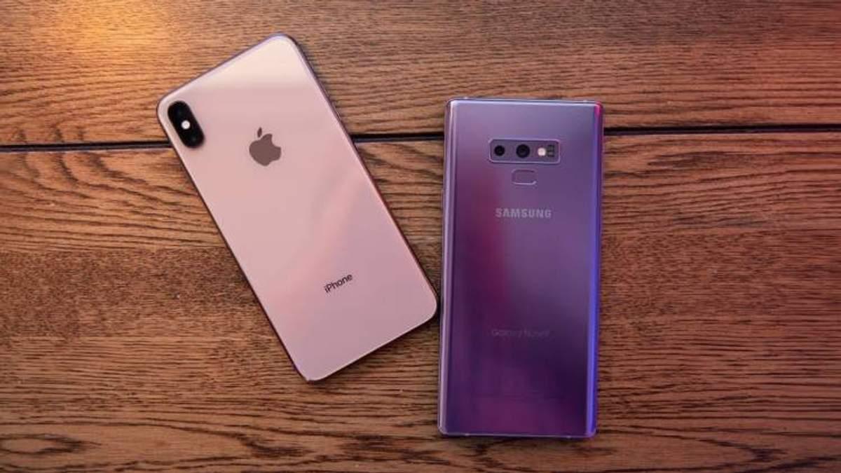 Який смартфон обирають користувачі: Samsung Galaxy Note 9 чи iPhone Xs Max