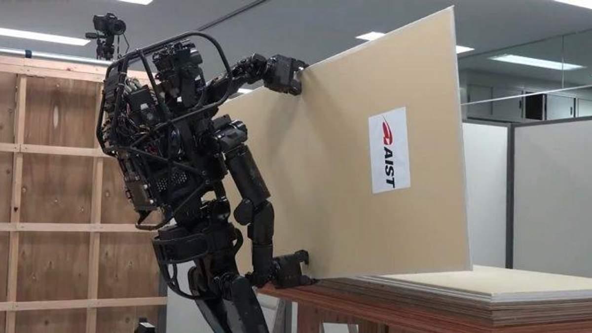 Создать человекоподобного робота, работающего на строительстве
