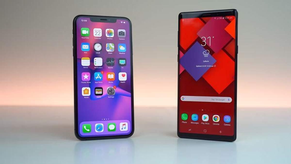 iPhone Xs Max и Galaxy Note9 сравнили на автономность