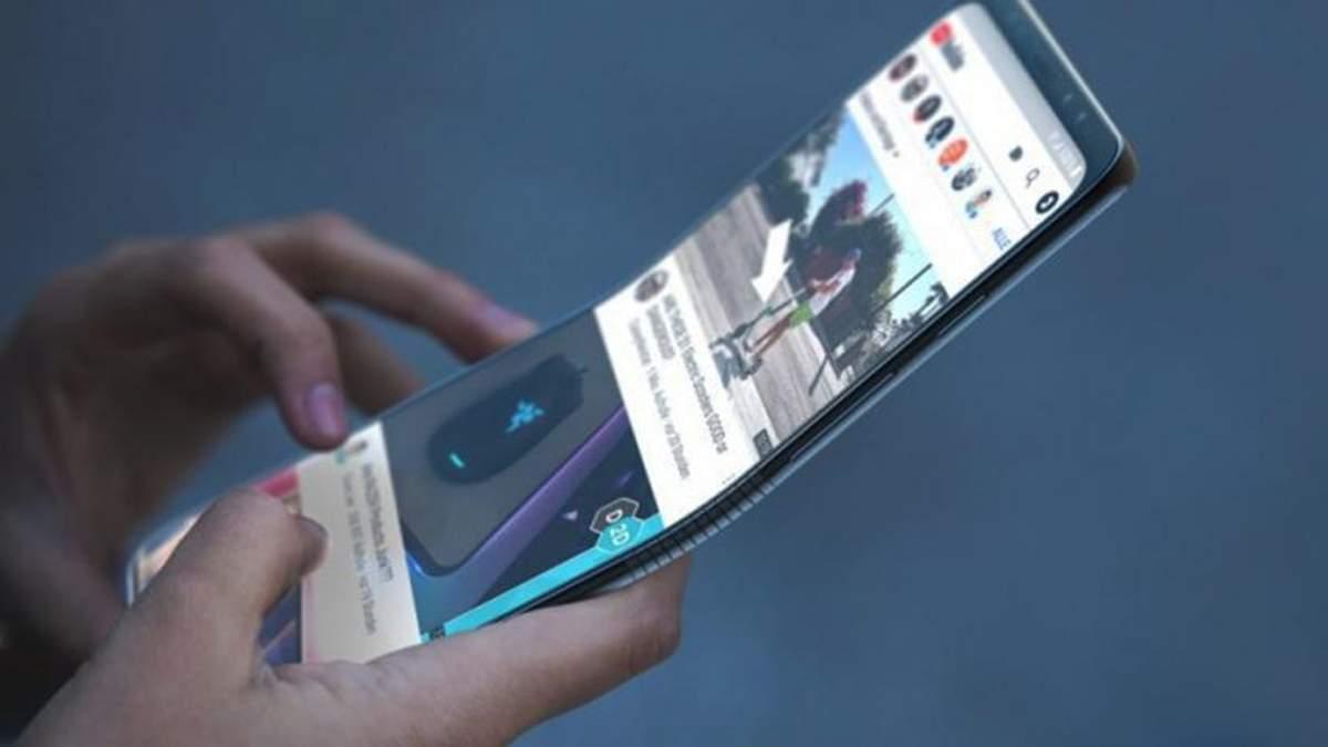 Прототип гибкого смартфона Samsung Galaxy X