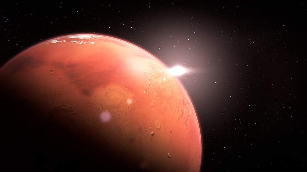 На Марсе появилась белая туча