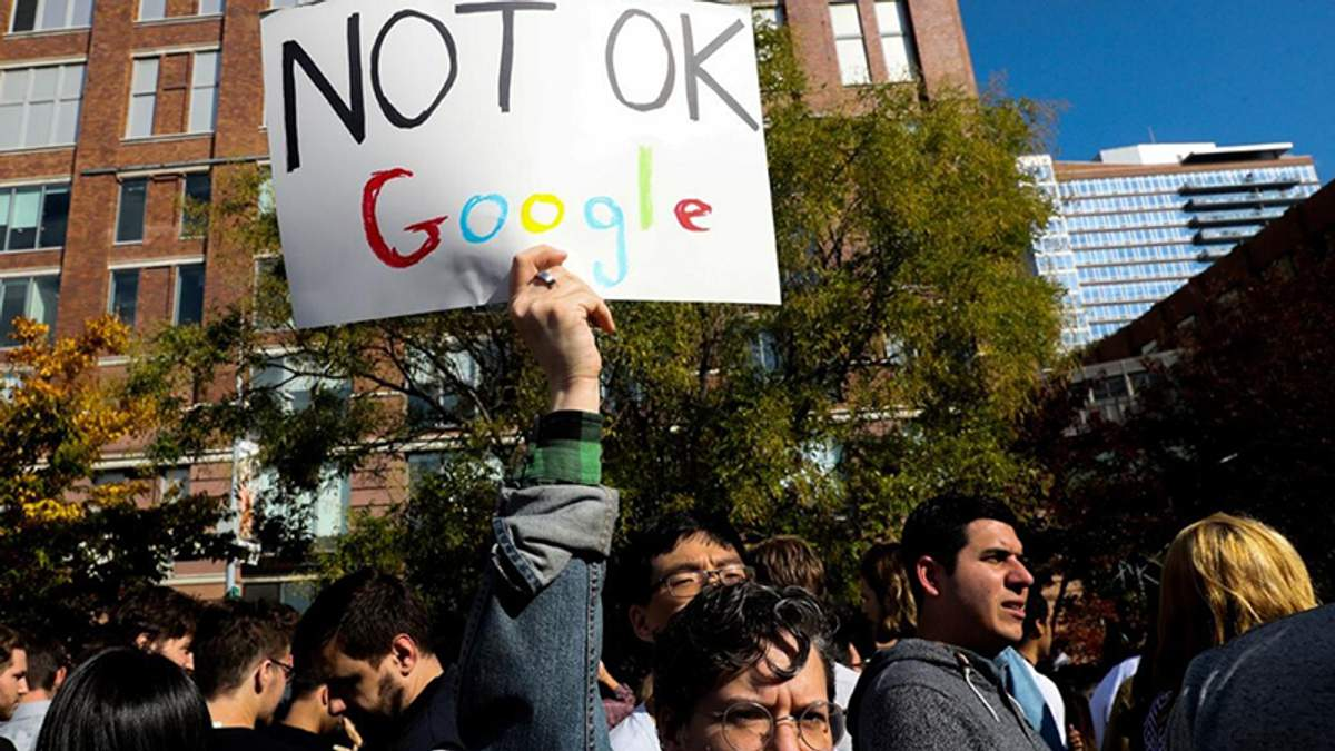 Акция протеста работников Google