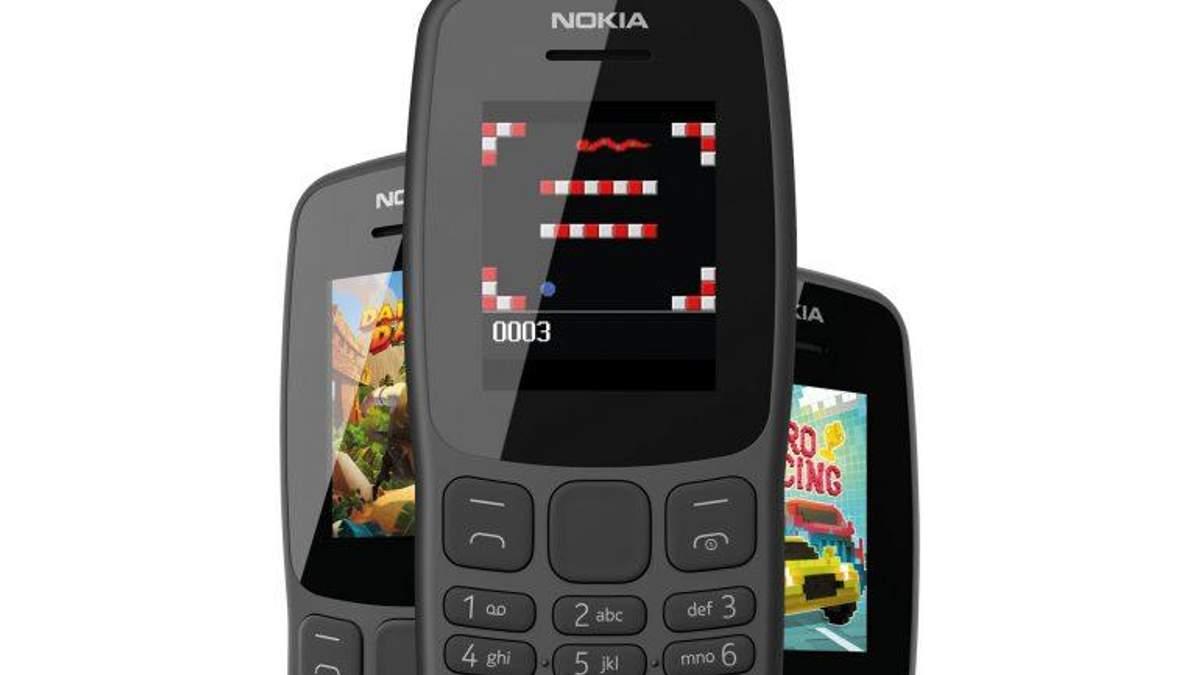Новый кнопочный телефон Nokia 106 (2018)