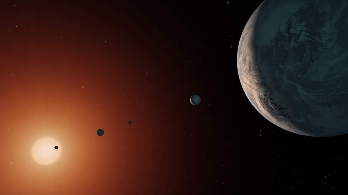Модель екзопланетиTRAPPIST-1e