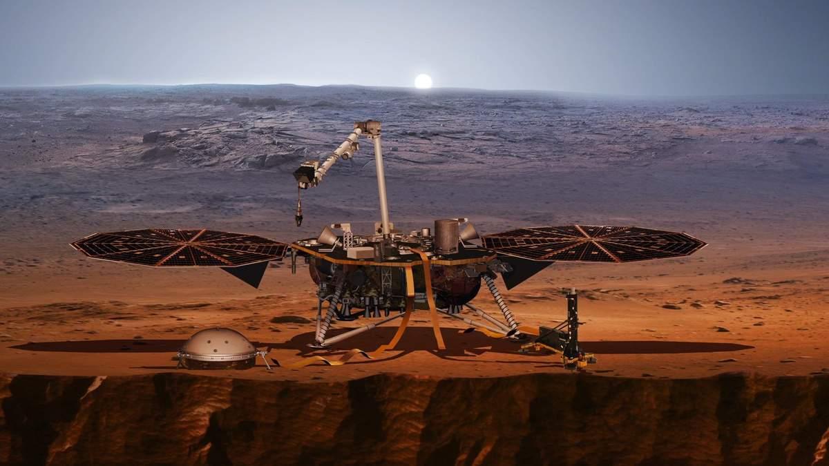 Зонд InSight прислал первые фото с Марса