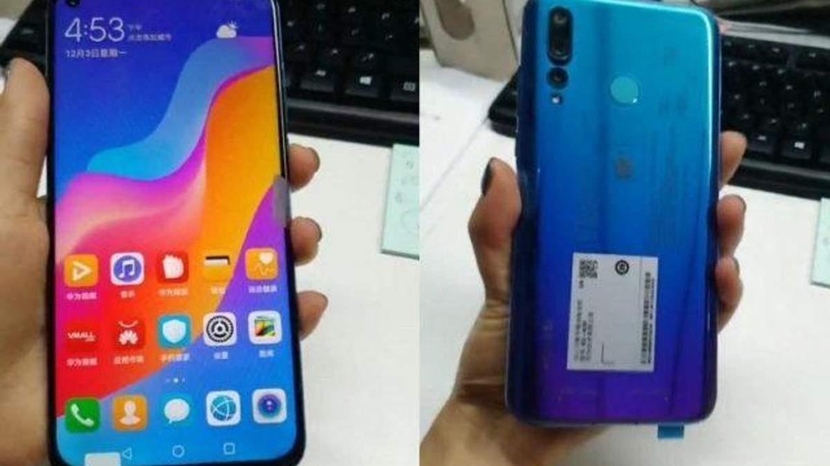 Смартфон Huawei Nova 4 с дырявым экраном: фото