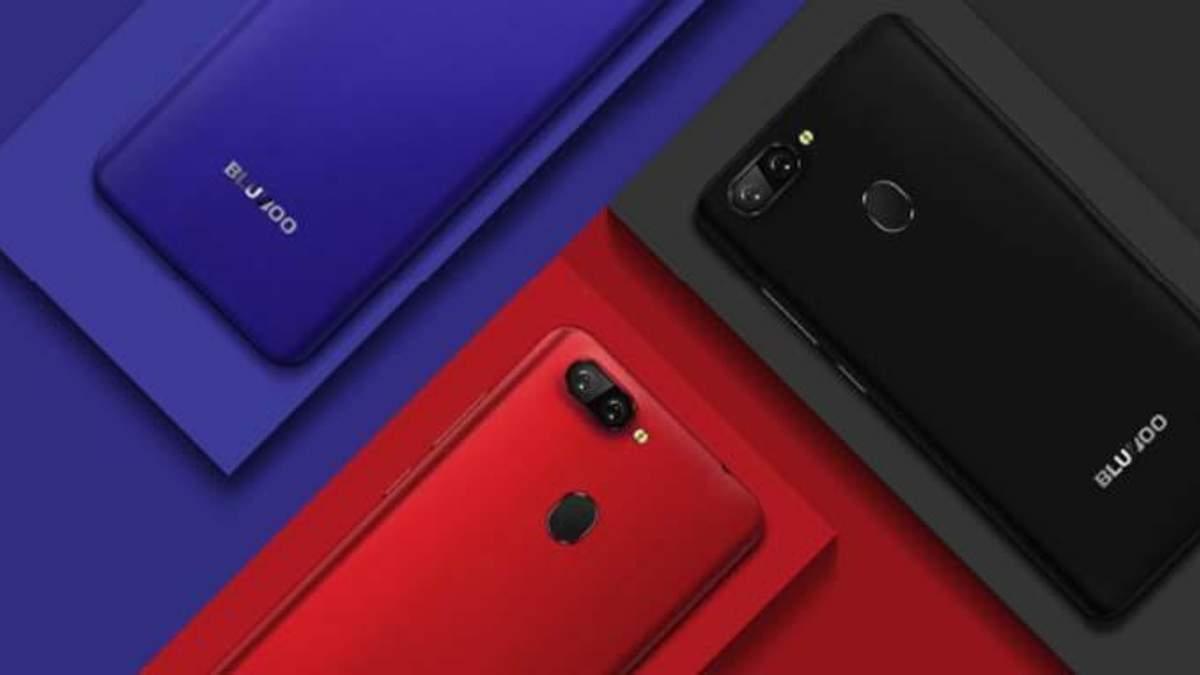Китайці представили смартфон  Bluboo D6 Pro з подвійною камерою, що коштує 80 доларів