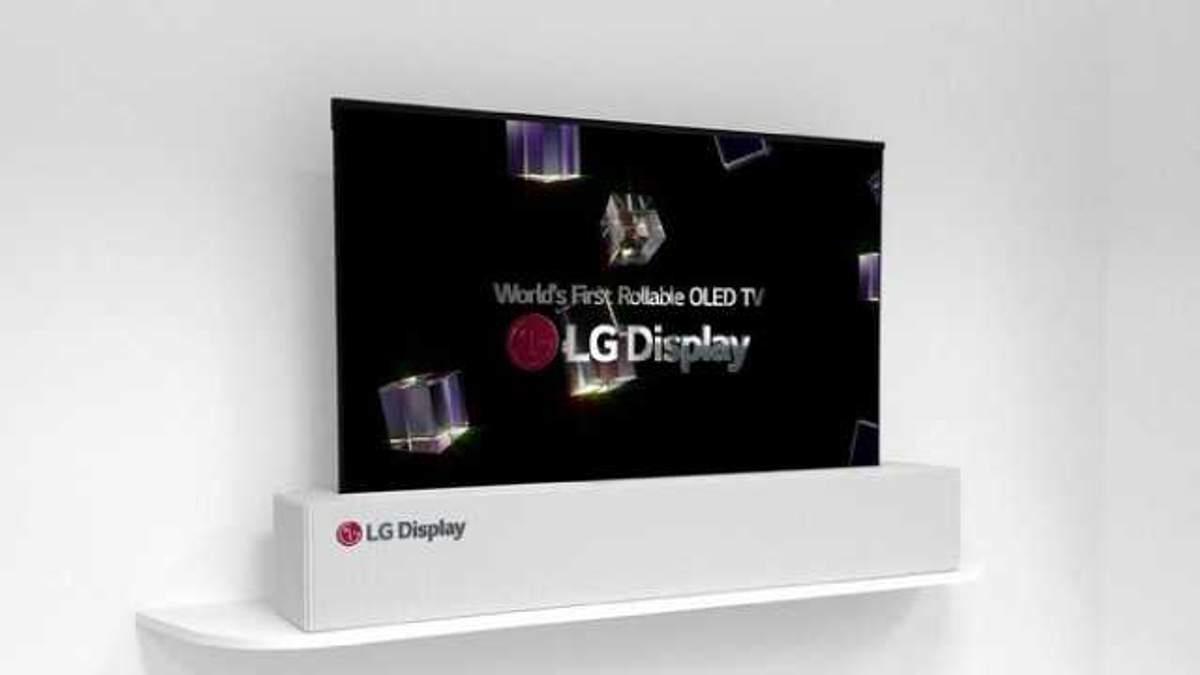 LG показала унікальний телевізор OLED TV R, що можна складати у трубочку