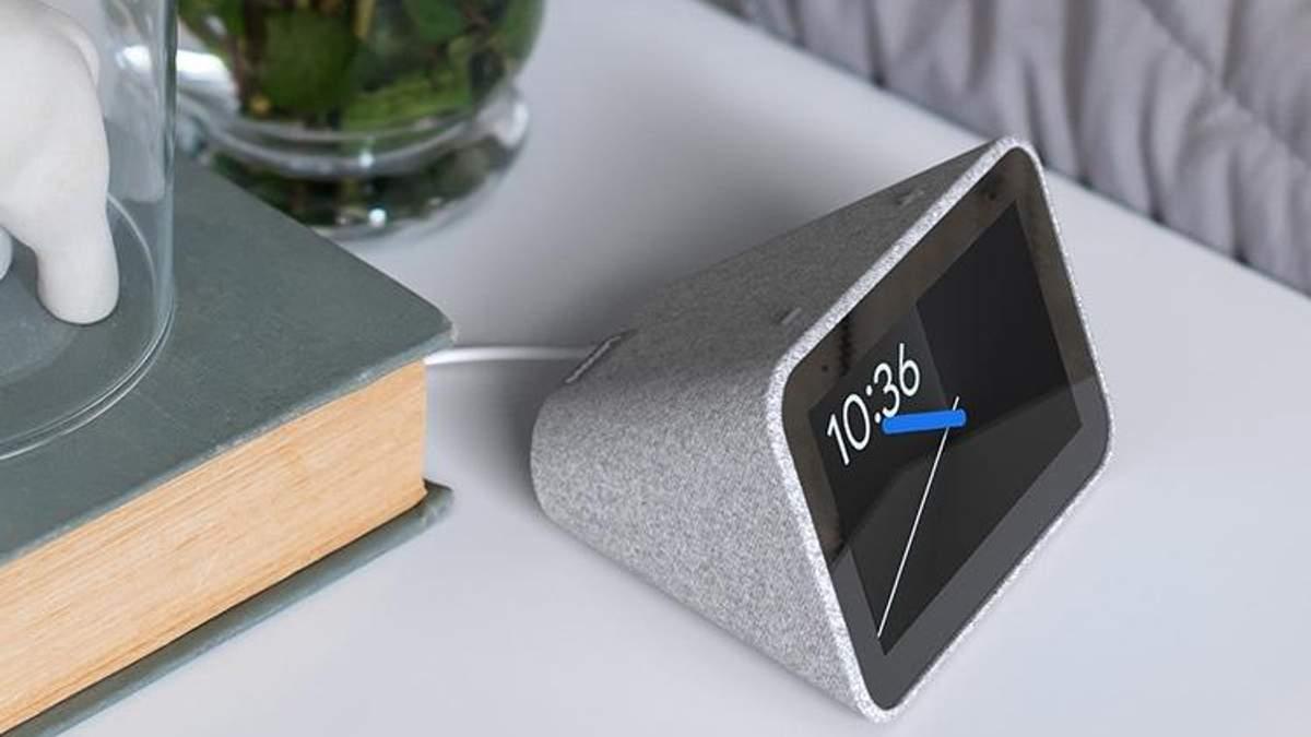 """Lenovo Smart Clock: представили """"розумний"""" годинник із підтримкою Google Assistant"""