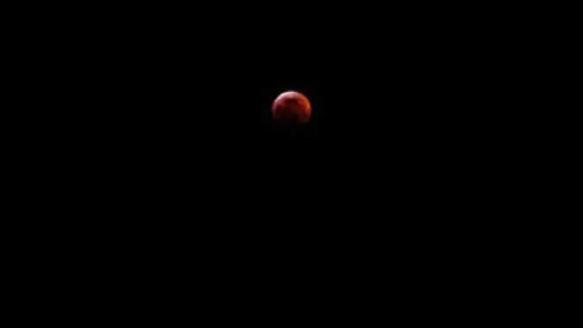 Лунное затмение 21 января 2019 - фото, видео