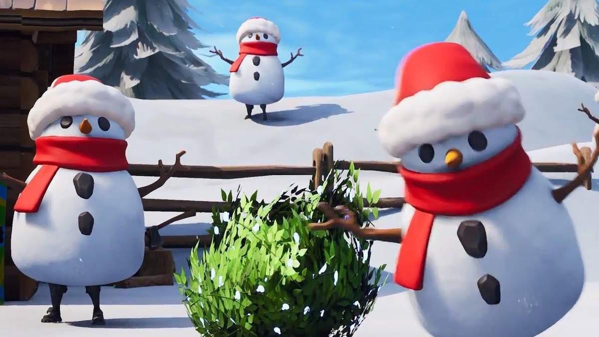 В грі Fortnite Battle Royale з'явився сніговик