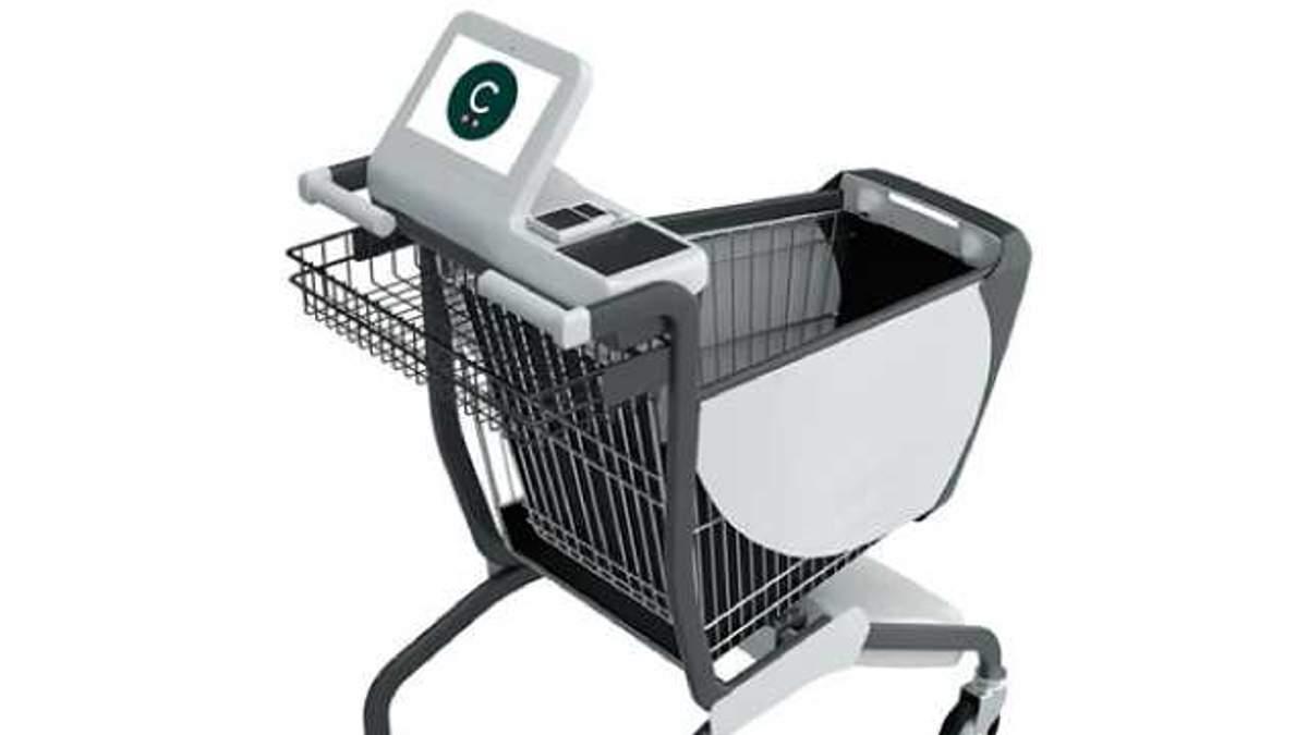Розробили розумний візок для супермаркетів
