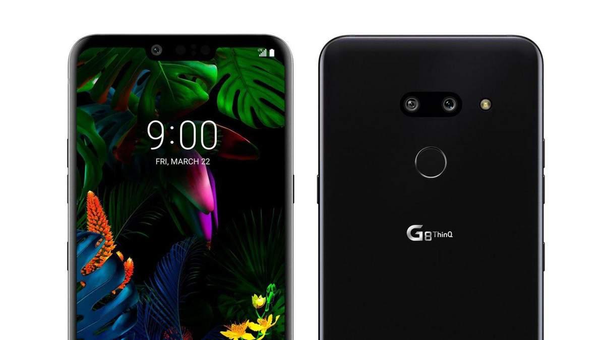 Рендеры смартфона LG G8 ThinQ