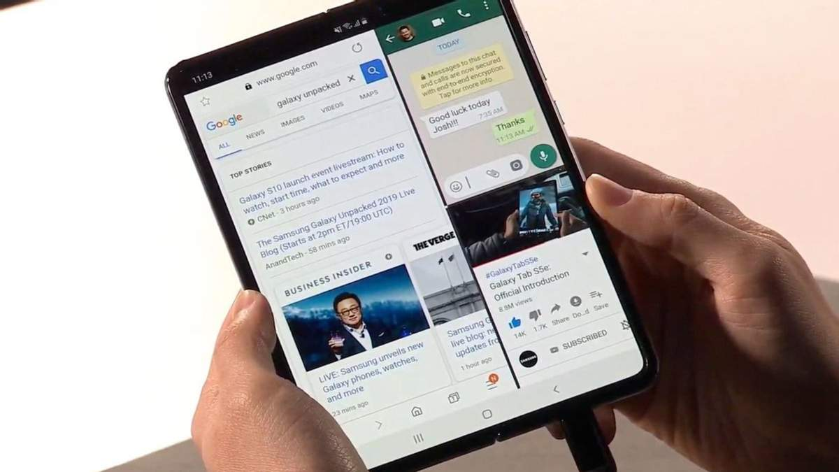 Как работает гибкий смартфон Samsung Galaxy Fold