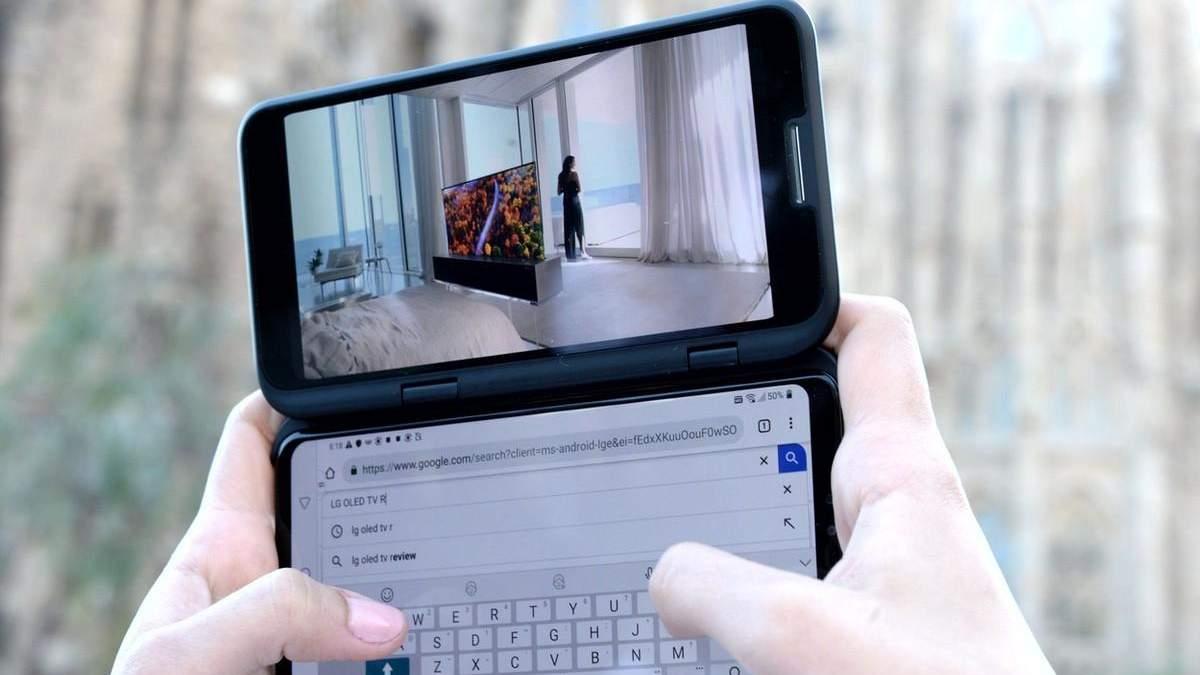 LG представила новаторский смартфон V50ThinQ 5G с двумя экранами