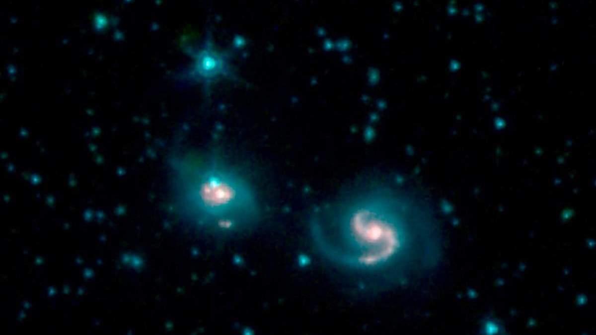Телескоп зафиксировал слияние двух галактик