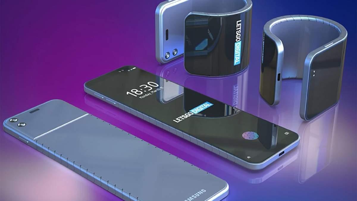 Samsung представить гнучкий смартфон-браслет: фото