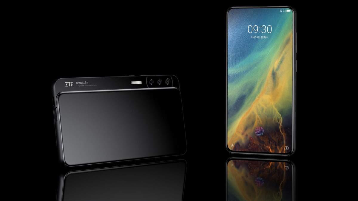 Перші фото незвичайного смартфона  ZTE Axon S з'явились в мережі
