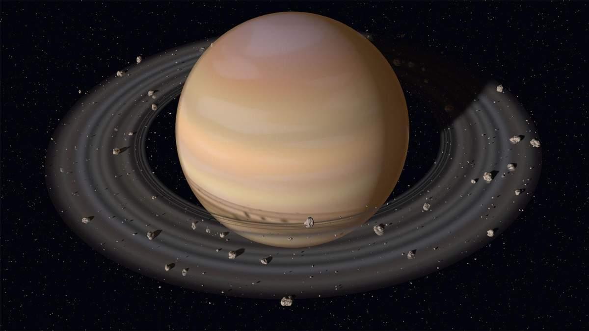 Науковці пояснили, чому супутники Сатурна мають різне забарвлення