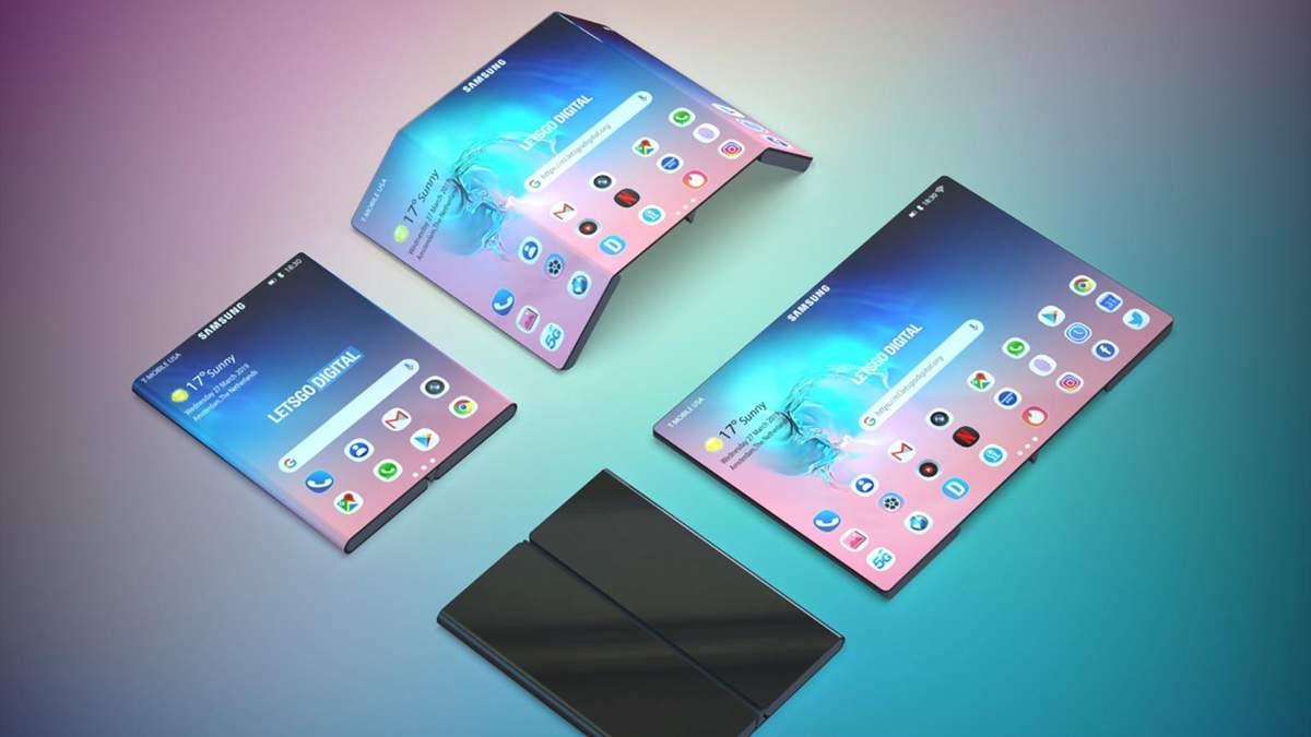 Samsung запатентовала еще один гибкий смартфон: фото