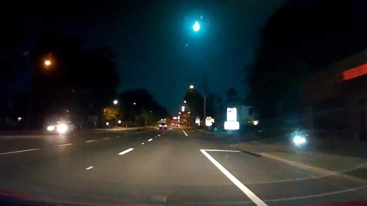 В США падение метеорита попало на видео