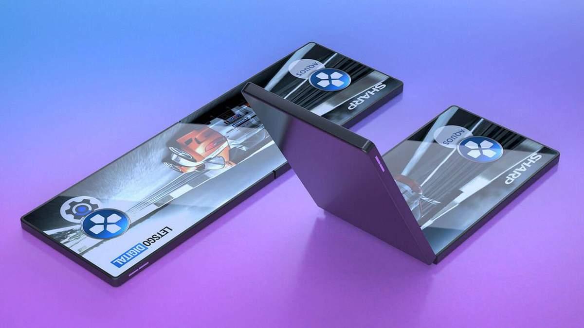 Компанія Sharp показала свою версію гнучкого смартфона: фото