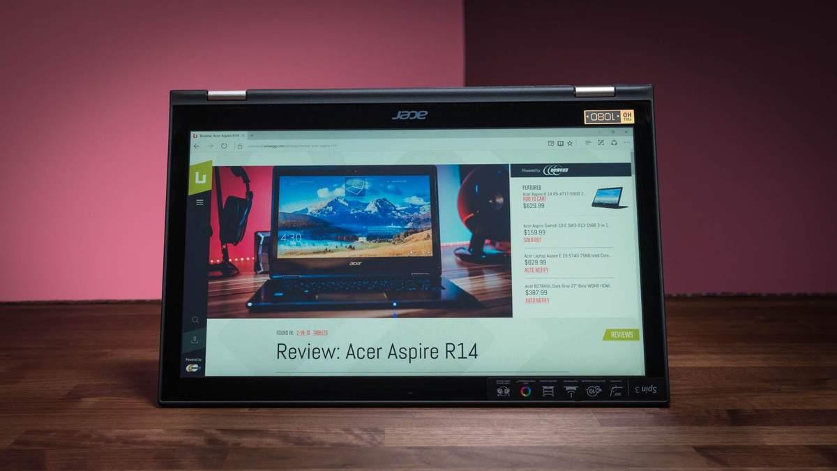 Acer обновила ноутбук-трансформер Spin 3: характеристики и цена в Украине