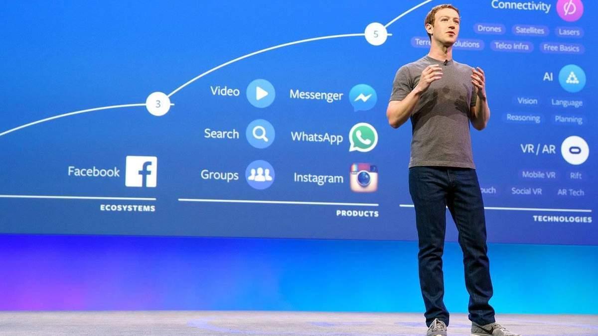 Цукерберг  хоче розділити  Facebook на два незалежних бізнеси