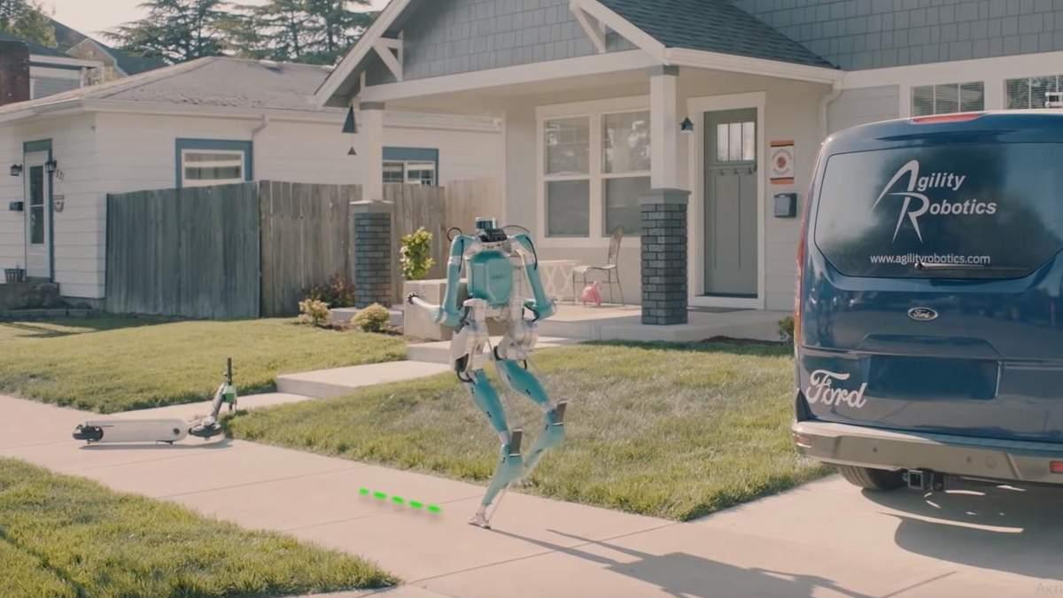 Ford создал двуногих роботов-курьеров: видео