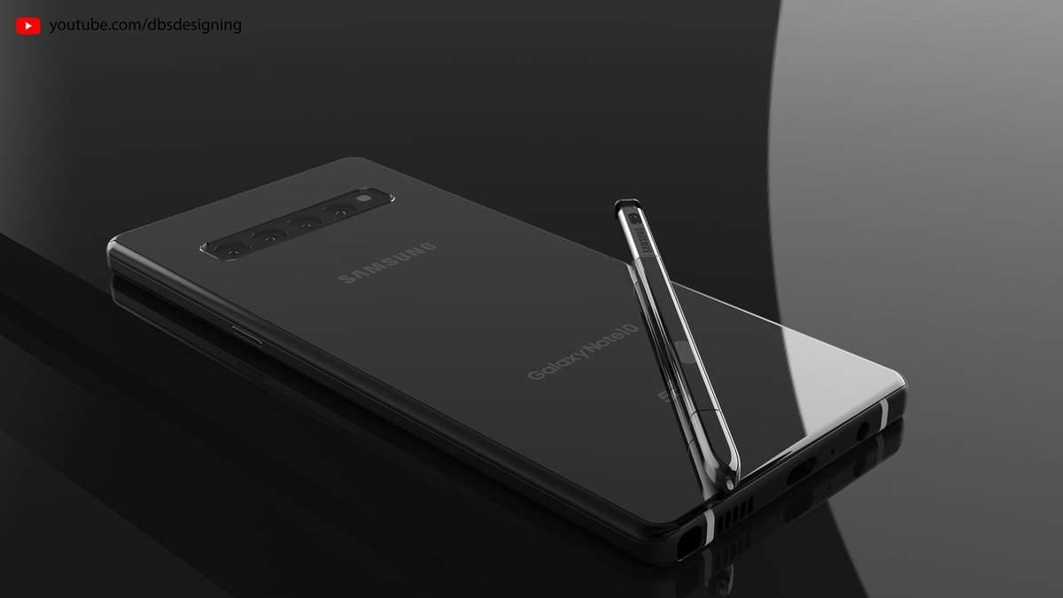 Ймовірний дизайн Samsung Galaxy Note 10
