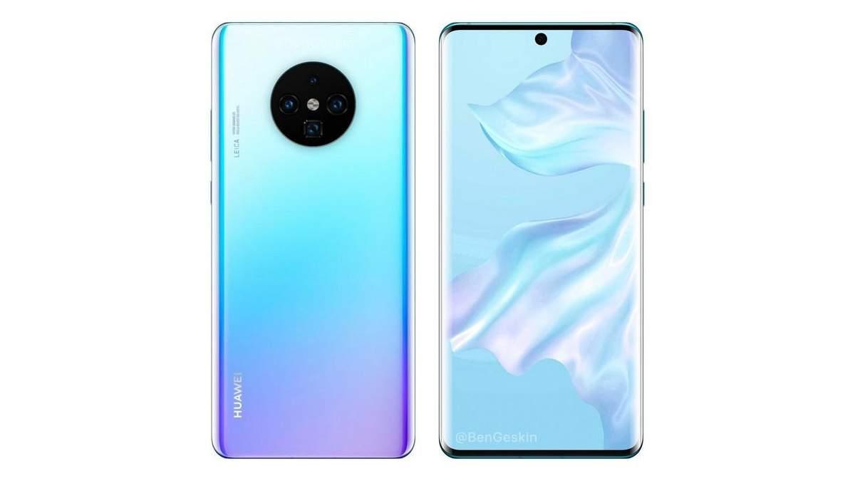 Вероятный дизайн Huawei Mate 30