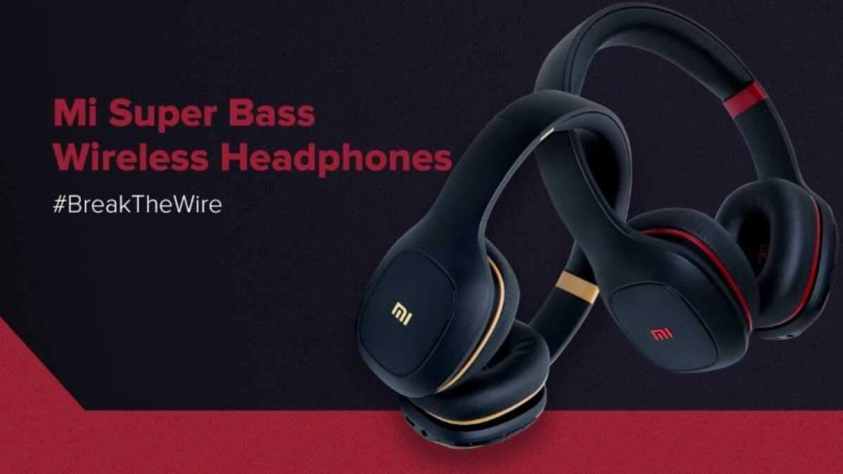 Mi Superbass Wireless Headphones имеют стильный дизайн
