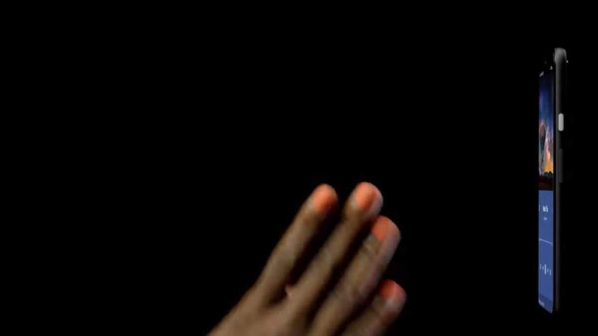 Google Pixel 4 управляют с помощью жестов