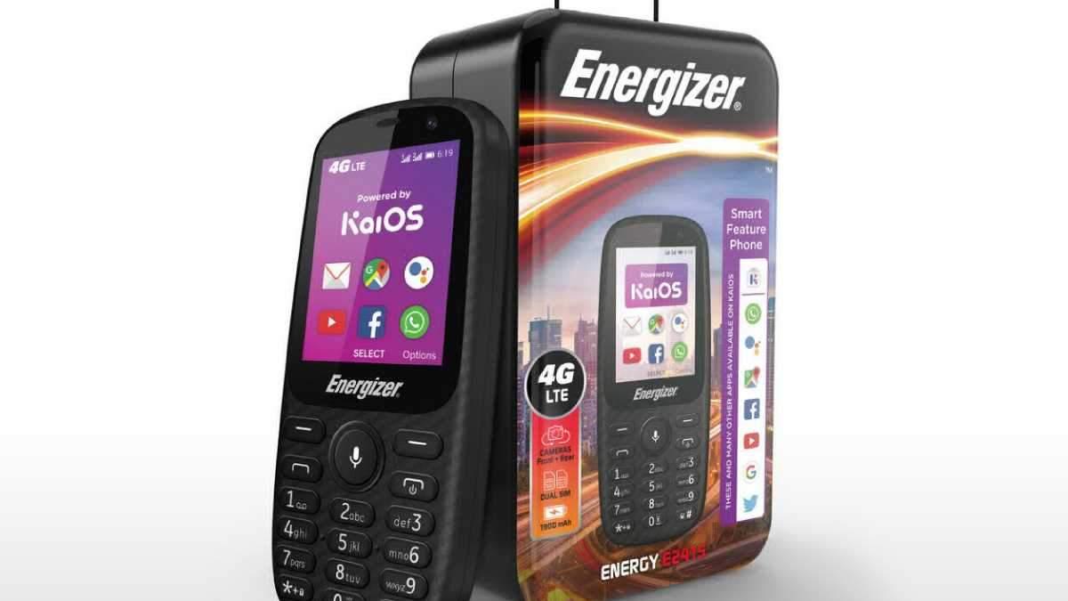 Energizer представила кнопковий телефон з 4G