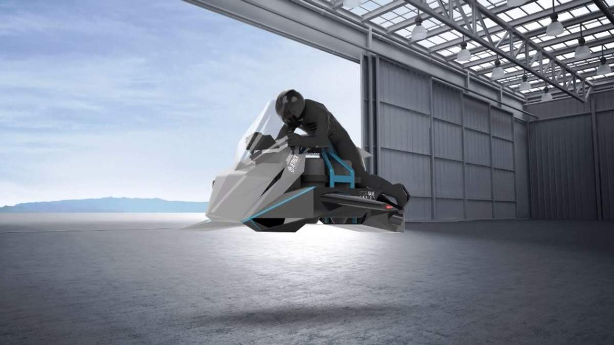 Японці анонсували літаючий мотоцикл: фото